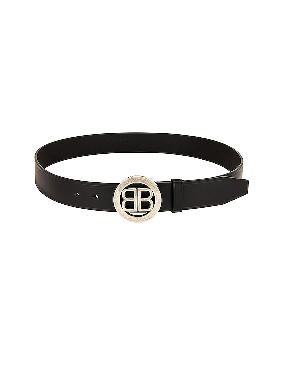 Circled BB Belt in Black