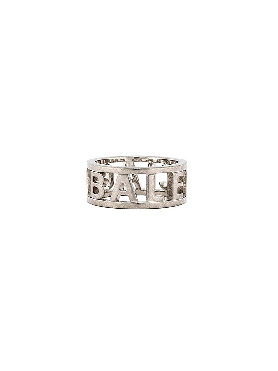 Logo Ring in Silver