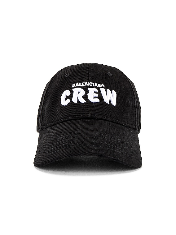 Hat Crew Cap in Black