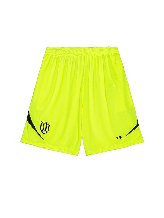 Soccer Shorts in Fluo Yellow & Black