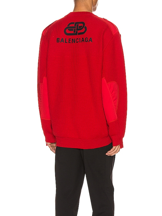 Long Sleeve Crewneck in Red