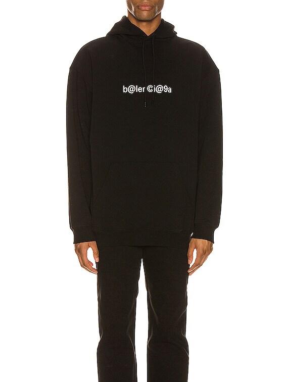 Medium Fit Hoodie in Black/White