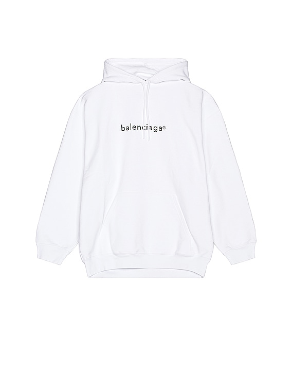 Medium Fit Hoodie in White & Black