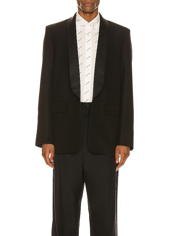 Seamless Tux Jacket in Black