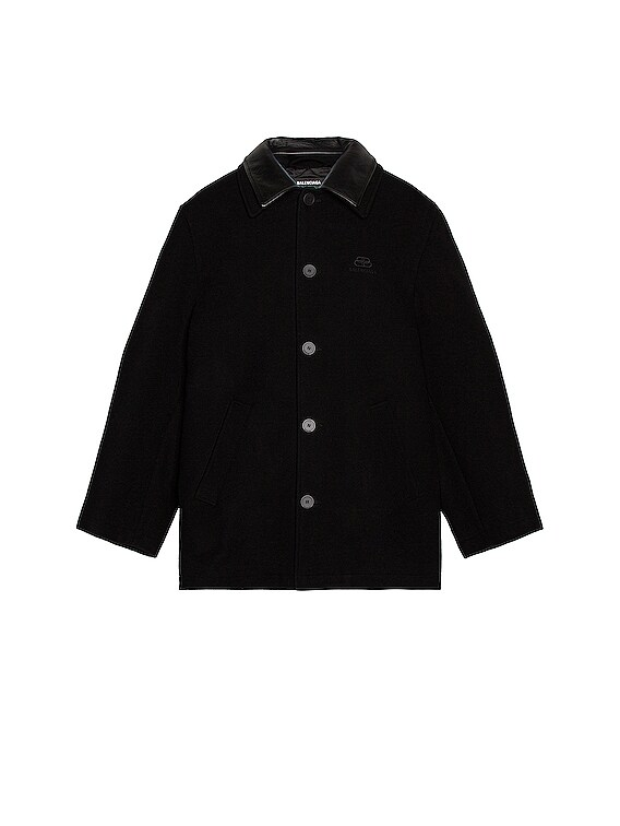 Double Collar Jacket in Black