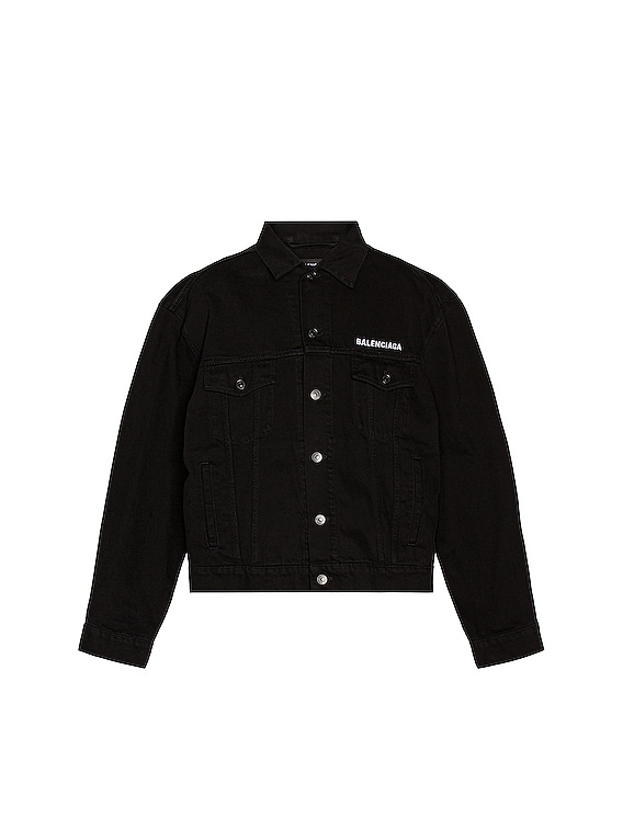 Large Fit Jacket in Pitch Black