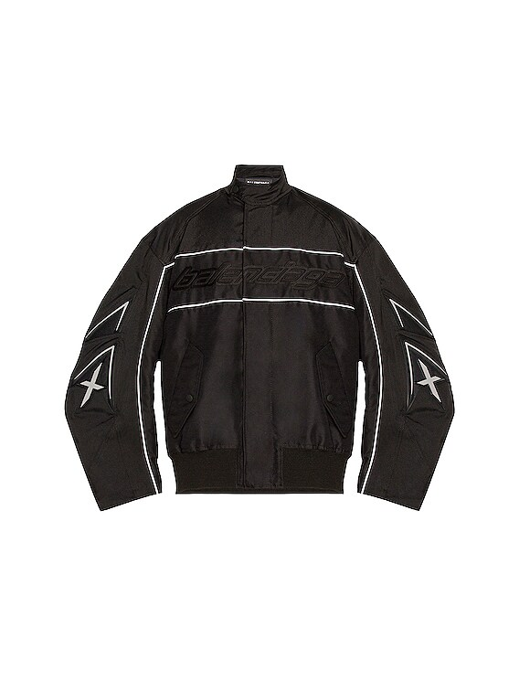 Racing Jacket in Black & Grey