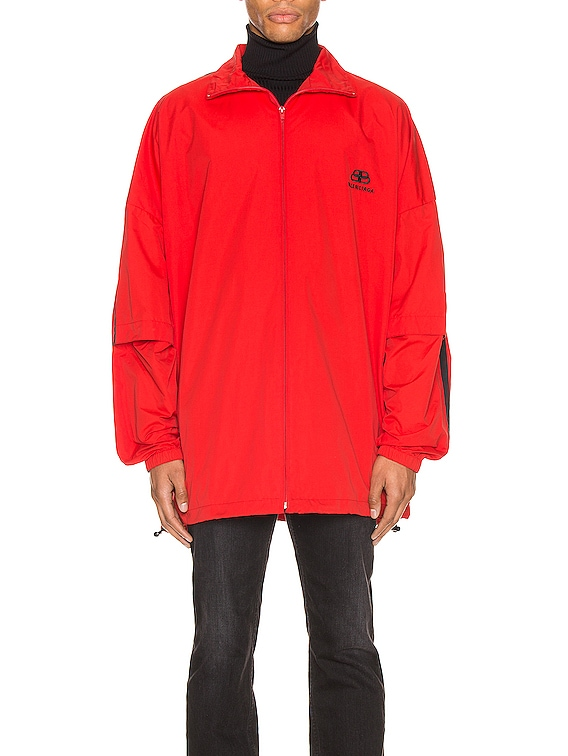 Double Sleeve Zip Up in Masai Red