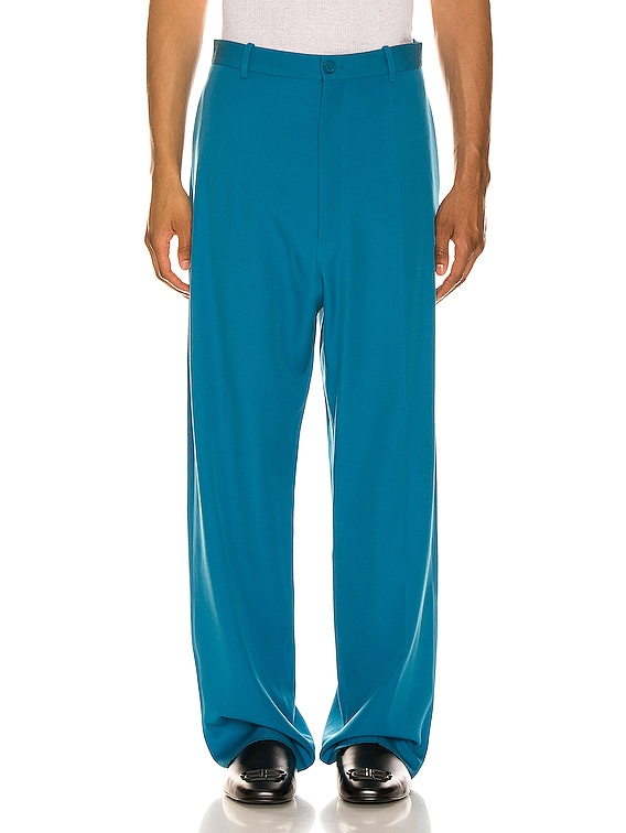 Baggy Tailored Pants in Bahamas Blue