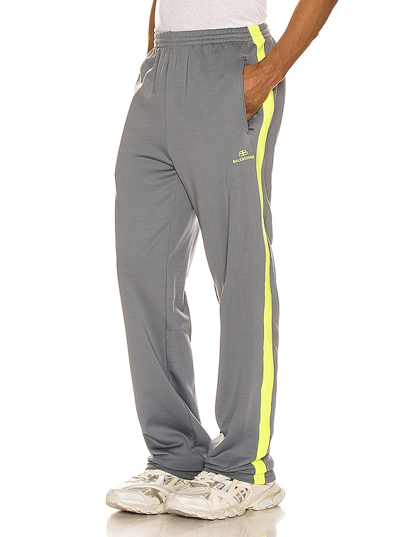 Tracksuit Pants in Grey & Fluo Yellow