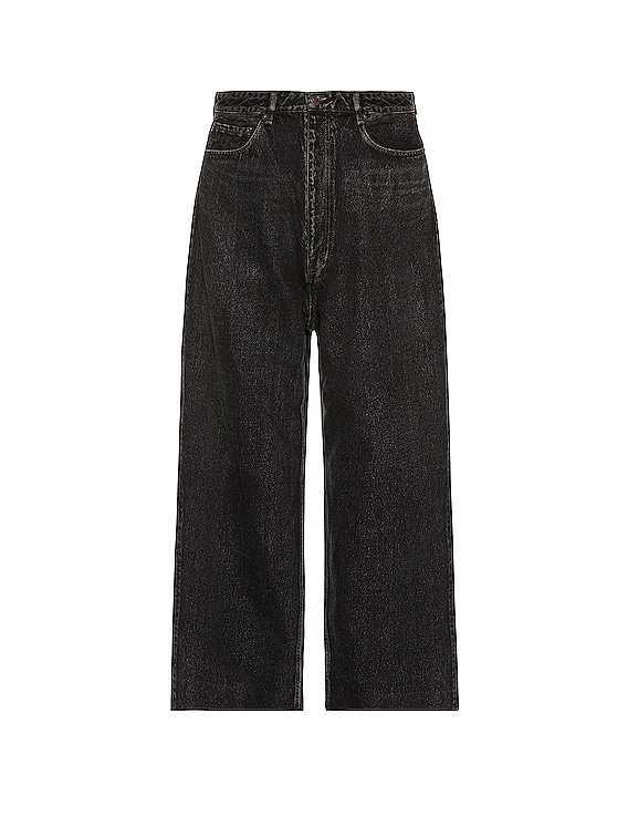 Baggy Trousers in Blue & Black