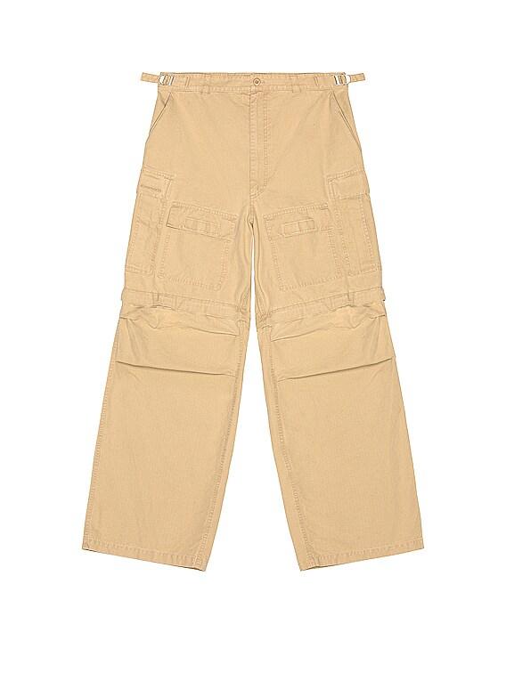Large Cargo Pants in Beige