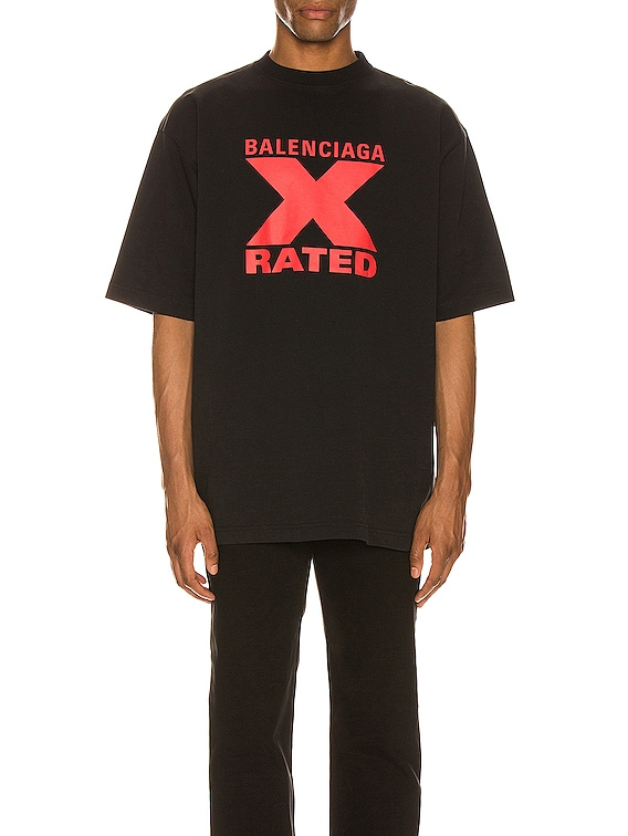 Short Sleeve Large Fit in Black/Red
