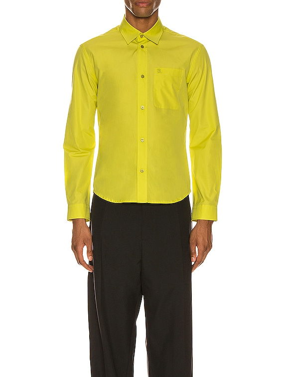 Fitted Shirt in Citrus Yellow