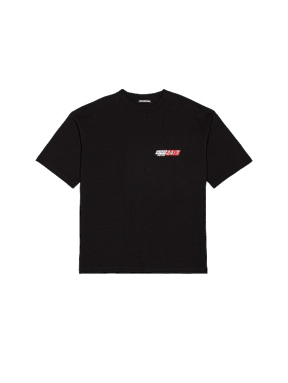 Medium Fit Tee in Black