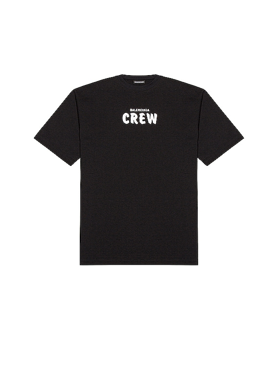 Short Sleeve Large Fit Tee in Black & White