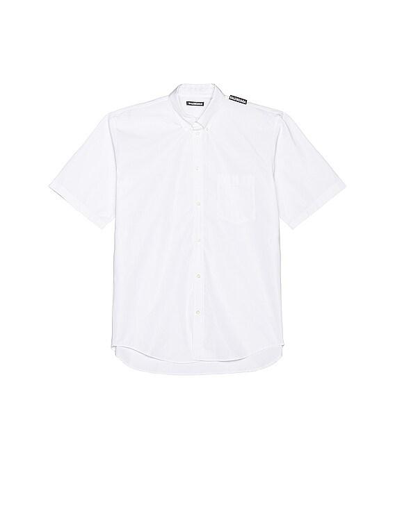 Short Sleeve Tab Shirt in White
