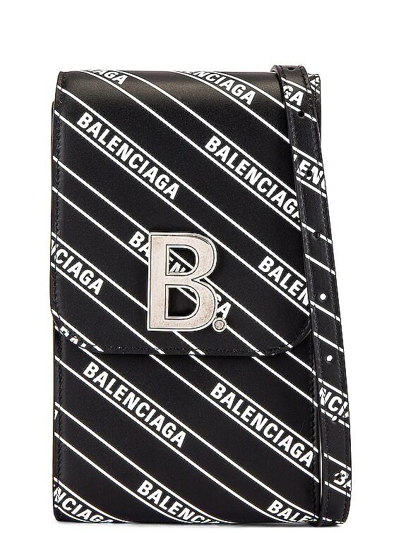 B Phone Holder in Black & White