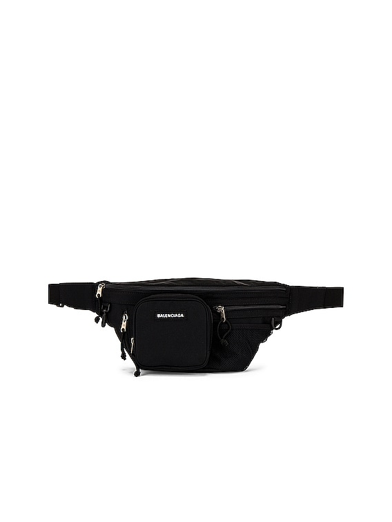 Explorer Multizip Belt Bag in Black