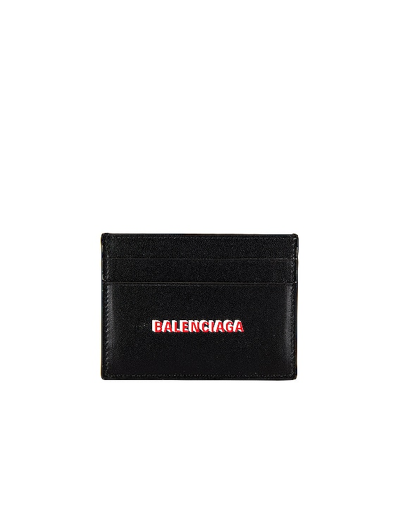 Cash Card Holder in Black & Light Red & White