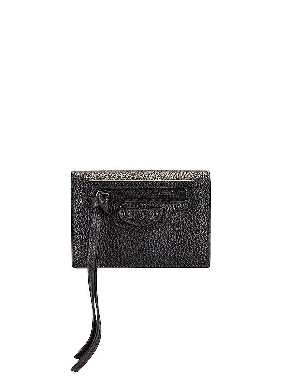 Neo Class Mini Wallet in Black