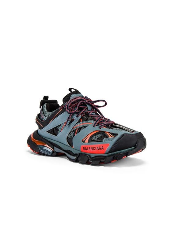 Track Sneaker in Dark Grey & Red & Black