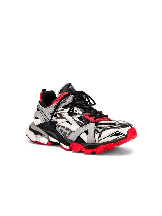 Balenciaga Track 2 Sneaker In Black Grey Red Fwrd