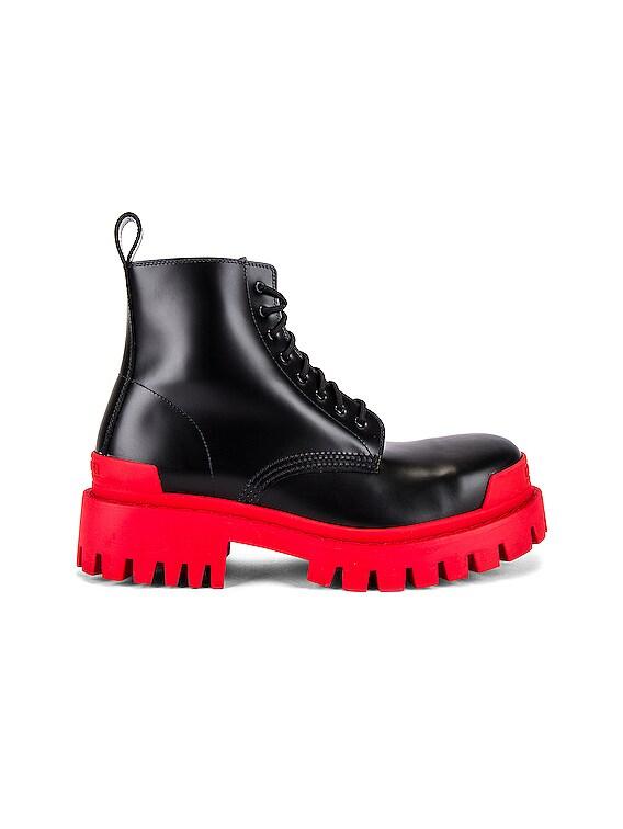 Strike Bootie L20 in Black & Red