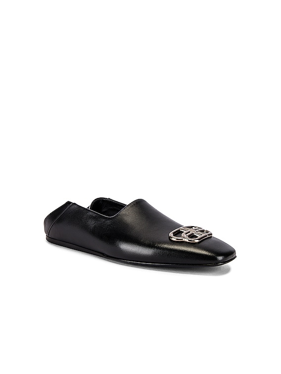 Cosy BB Loafer in Black & Nikel