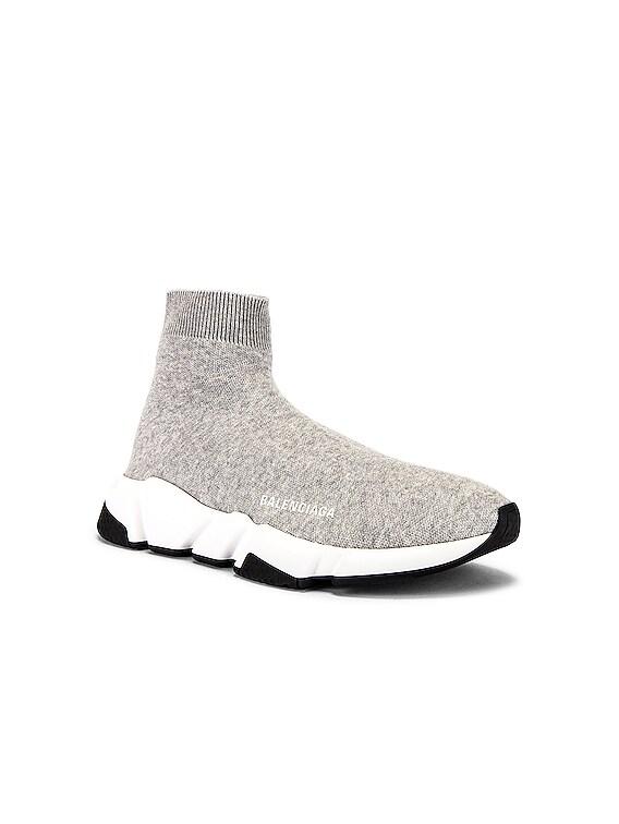 Speed Light Sneaker in Grey & White & Black