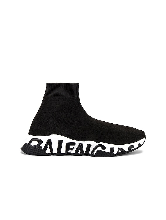 Speed Light Sneaker in Black & White & Black