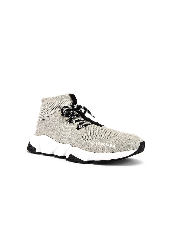 Speed Light Sneaker Lace Up in Grey & White & Black