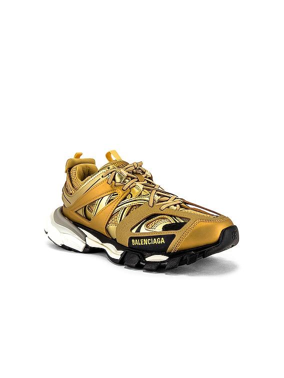 Track Sneaker in Gold