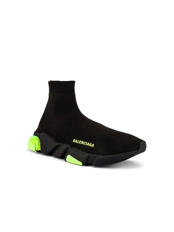 Speed Light Sneaker in Black & Clear