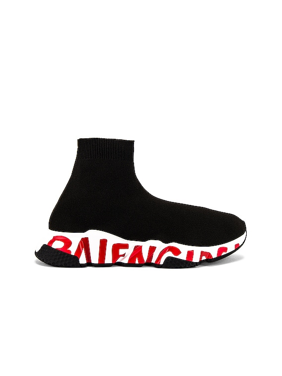 Speed Lt Sneaker in Black & White & Red