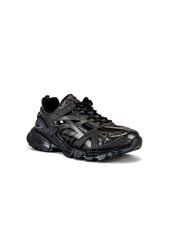 Track.2 Open Sneaker in Black