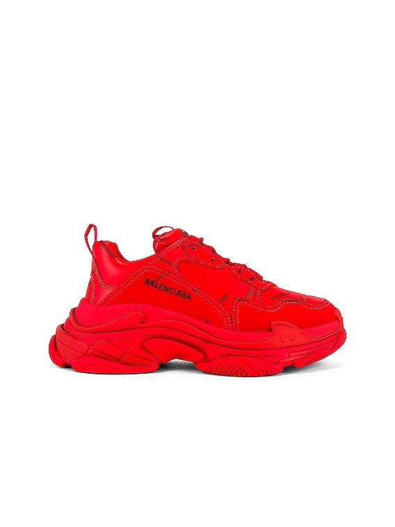 Triple S Sneaker in Red & Black
