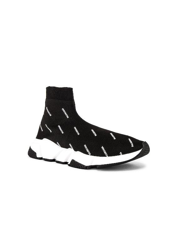 Speed Lt Sneaker in Black & White & Black