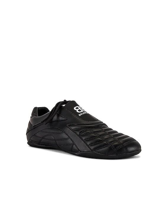 Zen Sneaker in Full Black & White