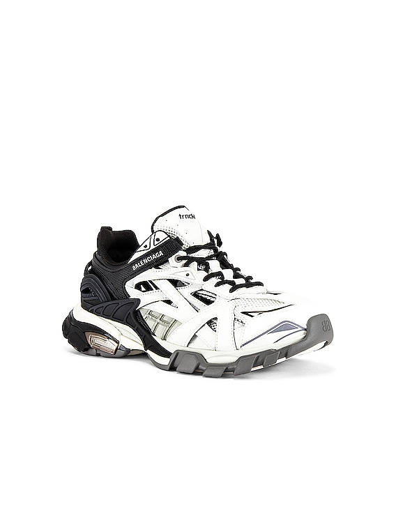 Track.2 Open Sneaker in Black & White