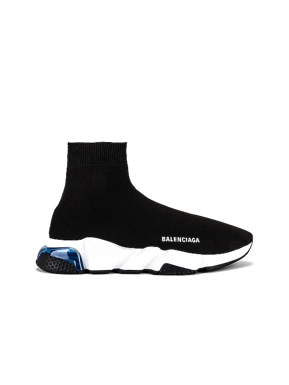 Speed Lt Sneaker in Black & White & Blue & Black