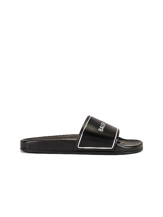 Piscine Slide in Black & Silver