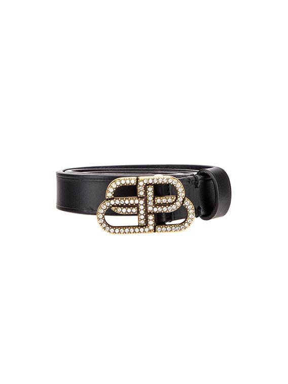 BB Strass Belt in Black