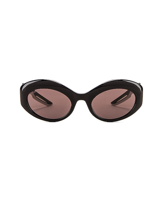 Hybrid Sport Sunglasses in Shiny Black & Grey