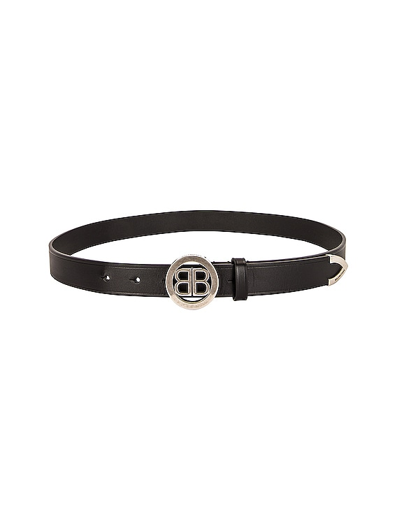 Circled BB Belt in Black