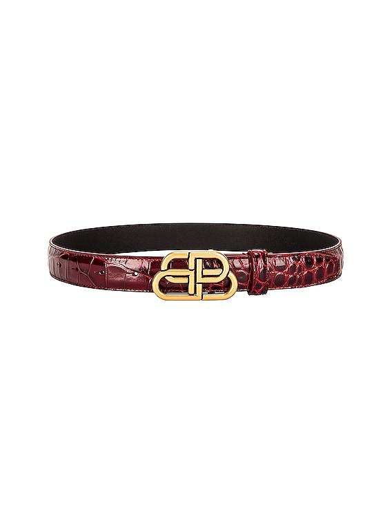 BB Thin Belt in Dark Red