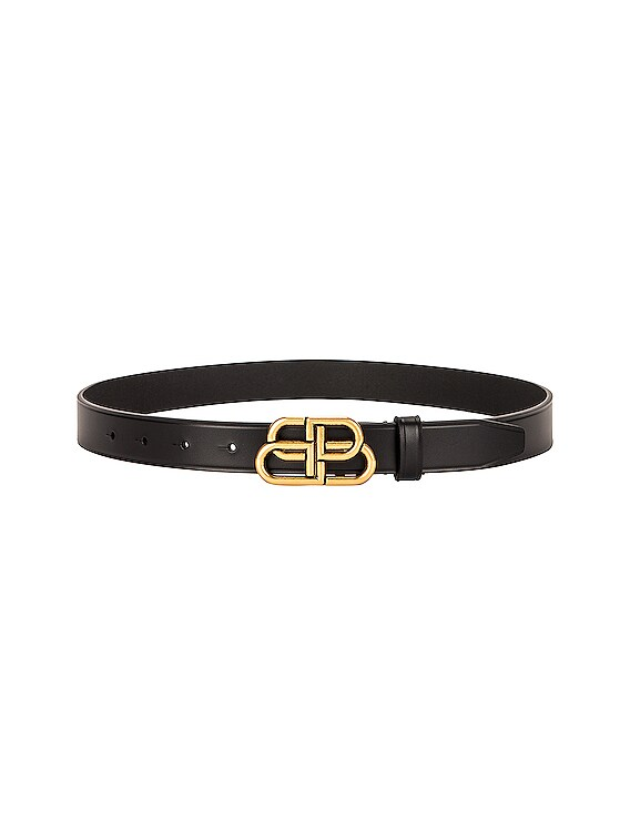 BB Thin Belt in Black