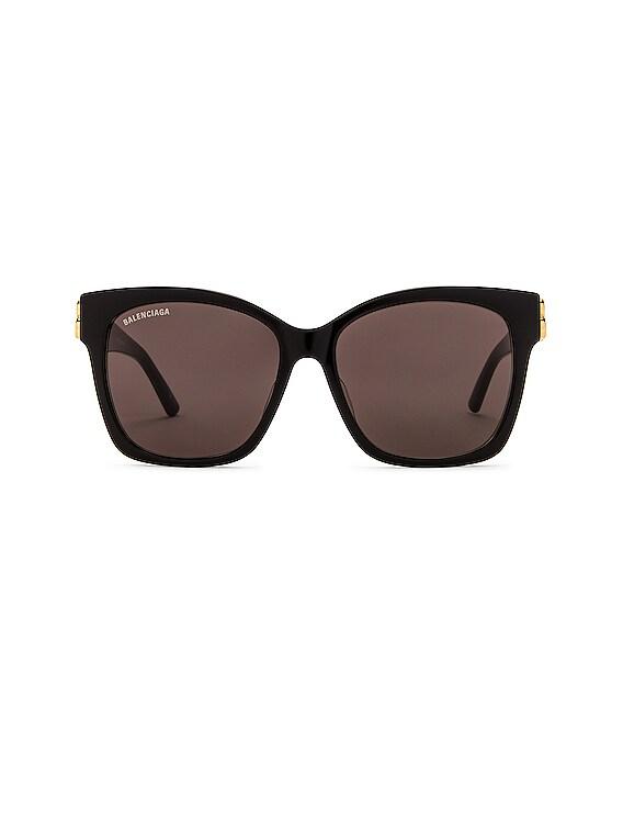 Square Vintage Sunglasses in Black