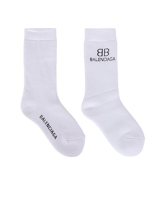 BB Socks in White & Black