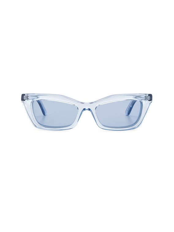 Rectangular Cat Eye Sunglasses in Ice Blue